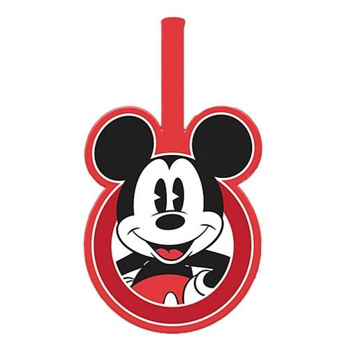 Disney Mickey Mouse Pose PVC Luggage Tag Label